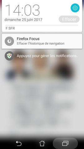 Bouton de suppression des donnés dans les Notifications