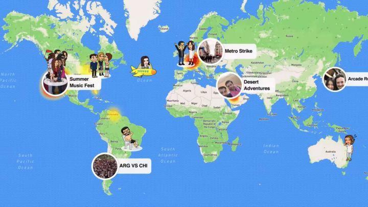 Interface de SnapMap