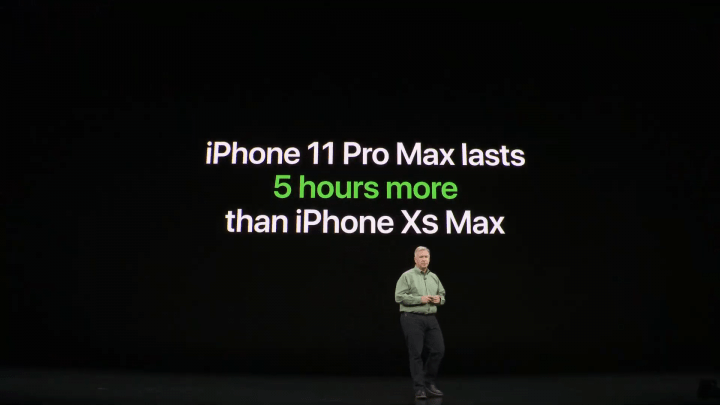 autonomie iphone 11 pro max comparaison batterie