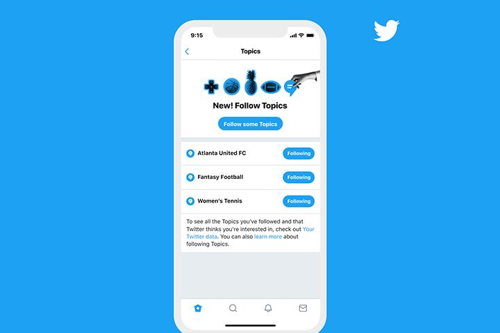Topics : la fonctionnalité de Twitter pour suivre ce qui vous intéresse
