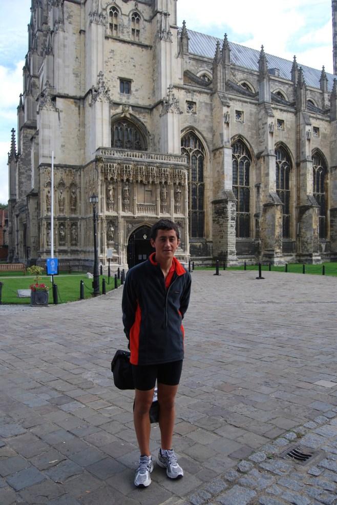 Ronan at Canterbury Cathedral