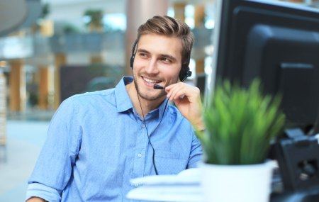 insurance broker on phone