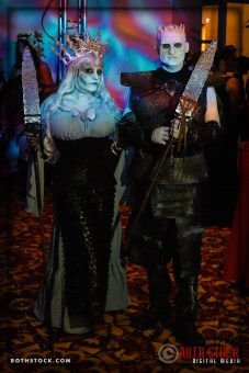 Elisa Teague and Curt Sandvig attend the 18th Annual Labyrinth Of Jareth Masquerade Ball