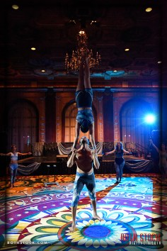 Acrobats Alan Ascencio and Jenay Espinosa of EMCirque