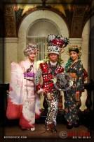 Artist Ayaka Metoki, costume designer Bobby Love and Camille Villanueva attend the 18th Annual Labyrinth Of Jareth Masquerade Ball