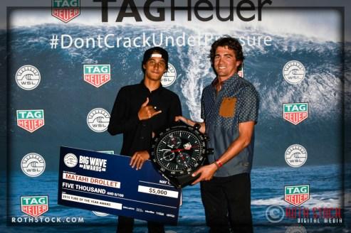 (L-R) Matahi Drolett and Greg Long