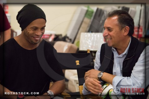 Ronaldinho Gaúcho (Ronaldo de Assis Moreira) with director Jorge Cano