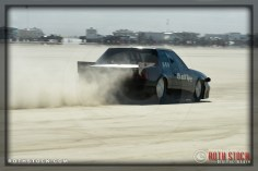 Driver Craig Black of Black Racing did not finish his run at SCTA - Southern California Timing Association's Land Speed Races at El Mirage Dry Lake