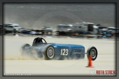 Driver Erik Hansson on his 171.215 mph run at Southern California Timing Association's Land Speed Races at El Mirage Dry Lake