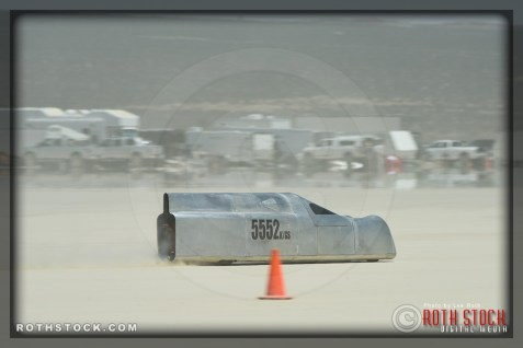 Driver David Boultwood of Stuhaan-Rogers-Kipe on his 113.096 mph run at SCTA - Southern California Timing Association's Land Speed Races at El Mirage Dry Lake