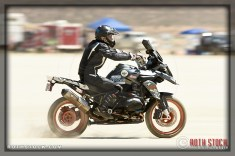 Rider Trev Richter of Race For Relief on his 135.125 mph run