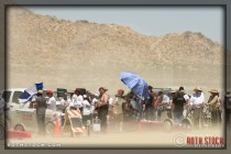 Dust Devils blow through the pit area of race camp