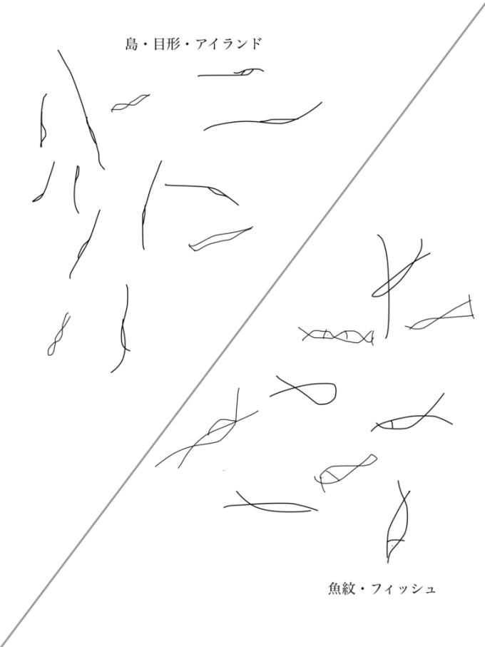 島・目形・アイランド・魚紋・フィッシュ