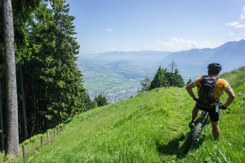Sicht ins St.Galler Rheintal