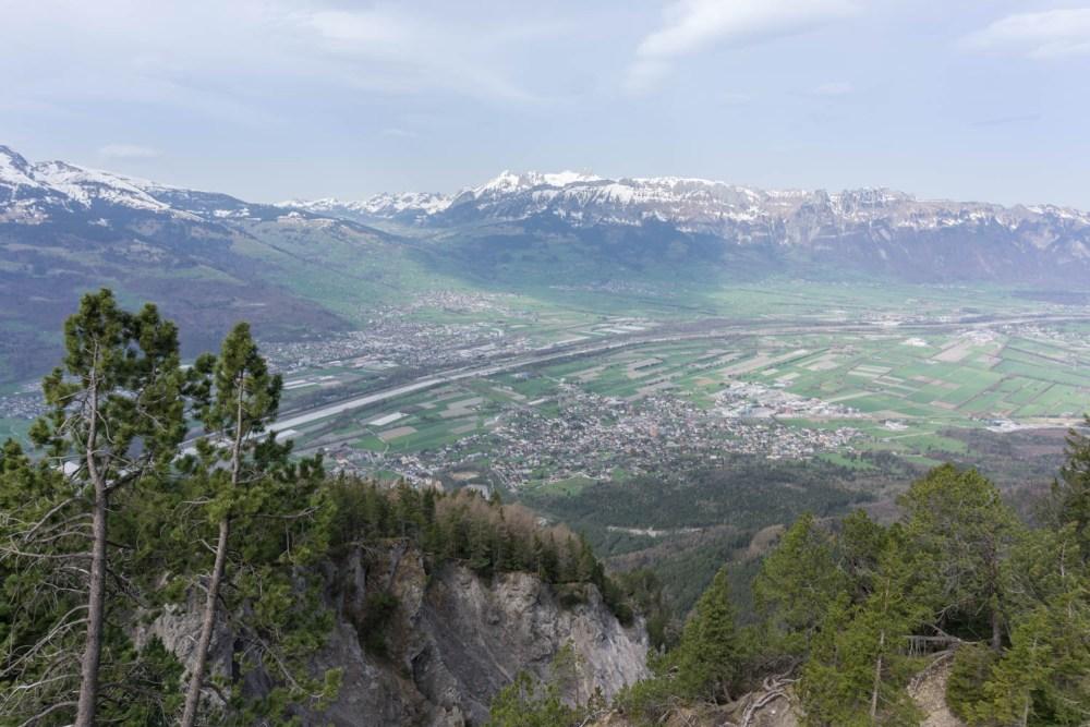 St.Galler Rheintal mit Sicht gegen den Säntis