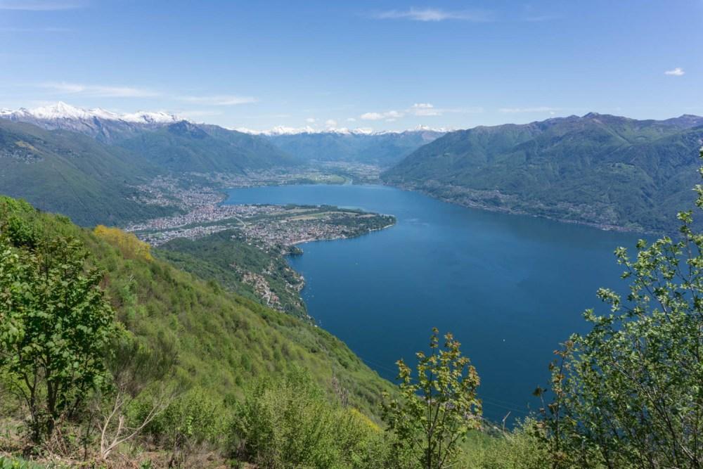 Lago Maggiore mit Maggiadelta und Magadinoebene