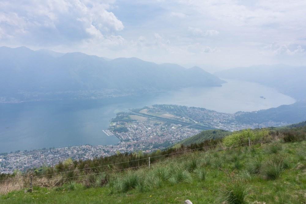 Sicht auf Locarno und Ascona