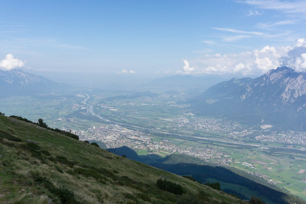 Sicht über das St.Galler Rheintal