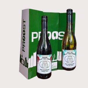 Flessen wijn in Rotterdverpakking - Rotterdampakketten
