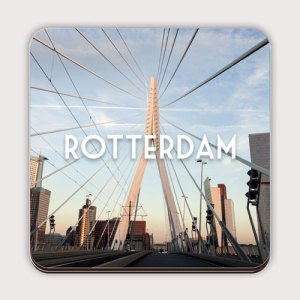 Onderzetter met de Rotterdamse Erasmusbrug