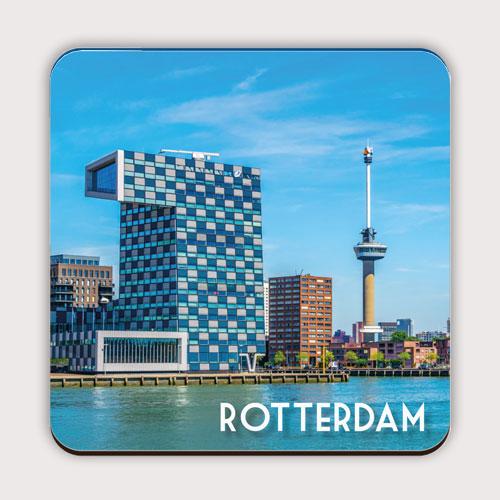 Onderzetter met de Rotterdamse Euromast