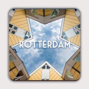 Onderzetter met de Rotterdamse Kubuswoningen