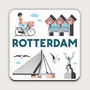 Een leuke Rotterdamse onderzetter.