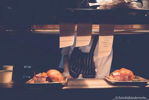 De keuken in Jamie's Diner