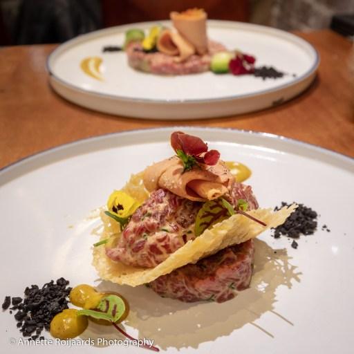 Voorgerecht Eetlokaal Het Witte Huis: steak-tartaar