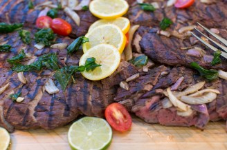 Not your typical picnic catering – Flank Steak marinated in Natty Boh – a Baltimore favorite! ---Photo credit to Laura's Focus Photography.