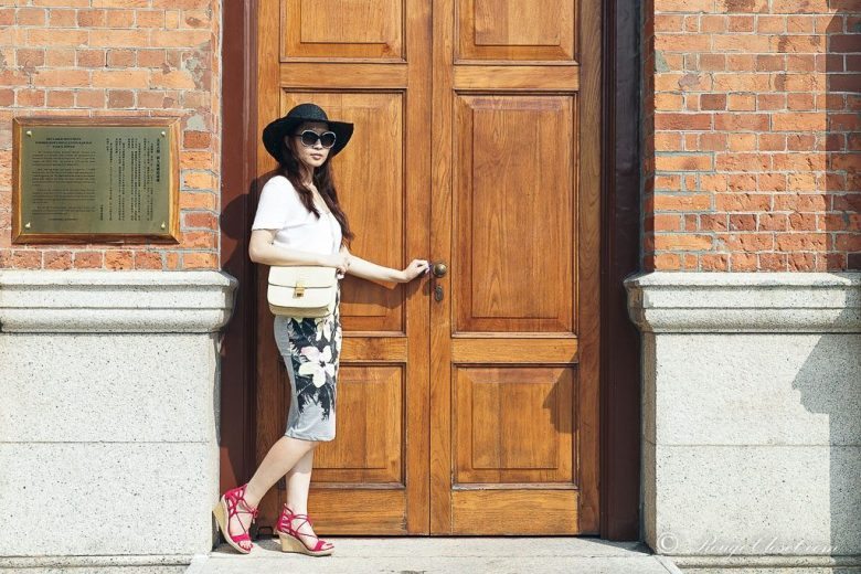 10. Believe there are always open doors somewhere, agnes b., agnes b. hat tria, Aquazzura, asos, asos pencil skirt, Celine, Celine Box bag, CHANEL, Chanel sunglasses, J.Crew, J.Crew Vintage cotton-jersey, The Peach Box, street style, casual style, summer style