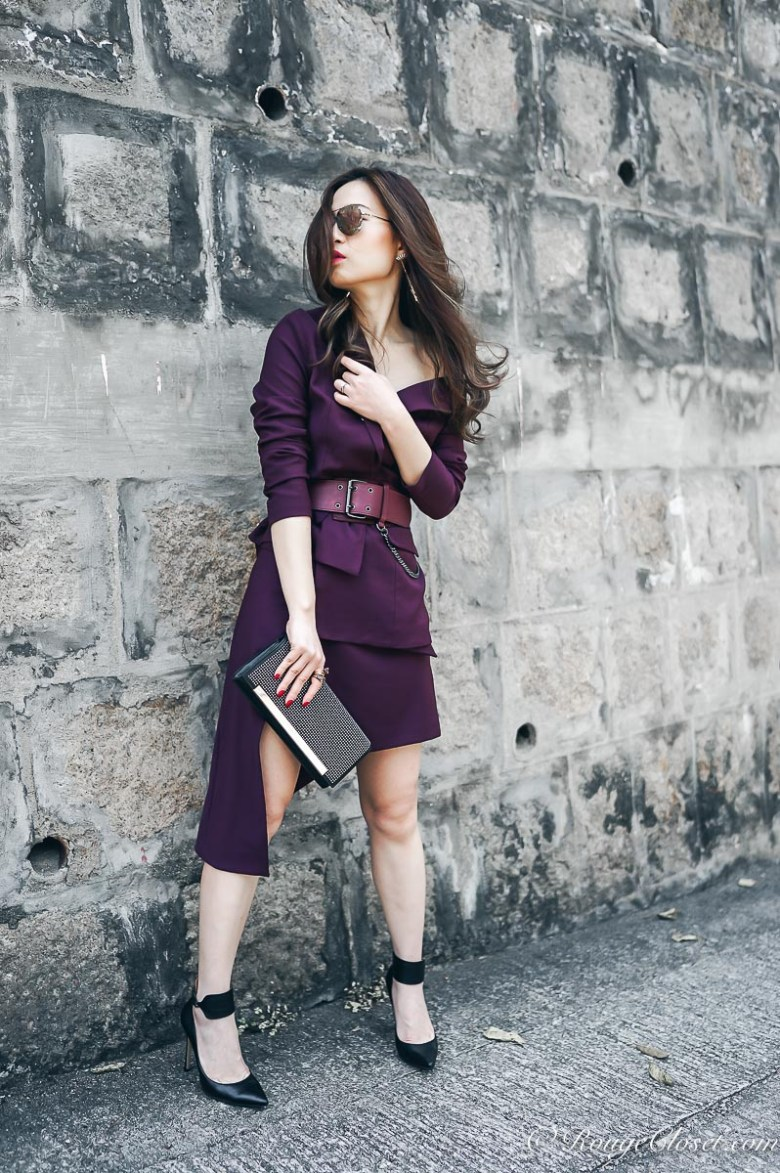Maya Li SS17 Asymmetric V-neck Jacket and skirt