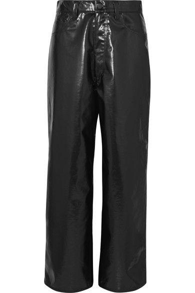 Facetasm - Vinyl Pants - Black