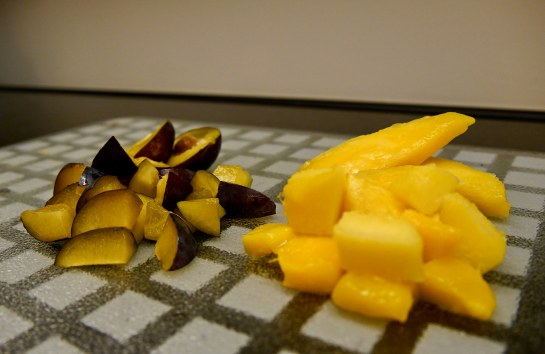 cut up fruit small