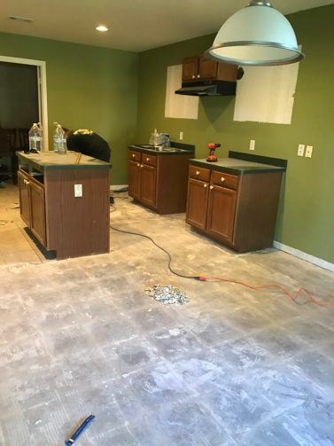 Before Picture of rustic farmhouse kitchen