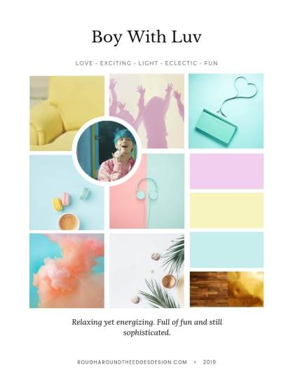 "BTS Boy with Luv Mood Board,BTS bedroom Design ""Boy with Love"" Inspired"