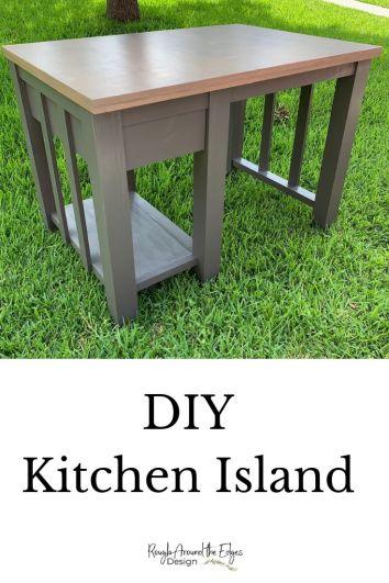 pinterest diy kitchen island pin