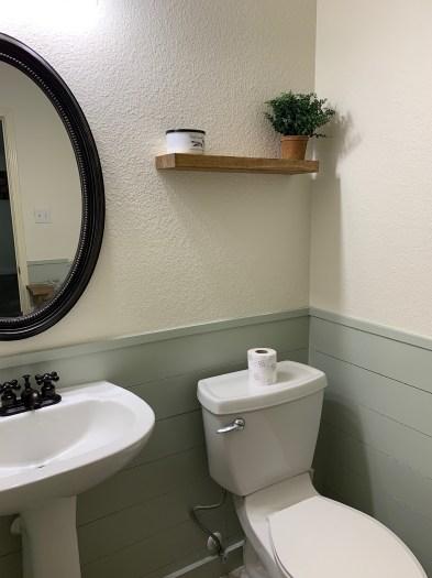 HGTVs Fixer Upper Hot Sauce House inspired powder room