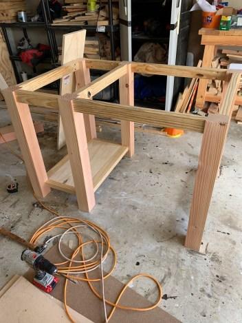 DIY Kitchen island frame