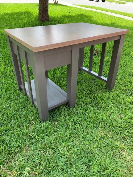 DIY Kitchen Island with a drawer