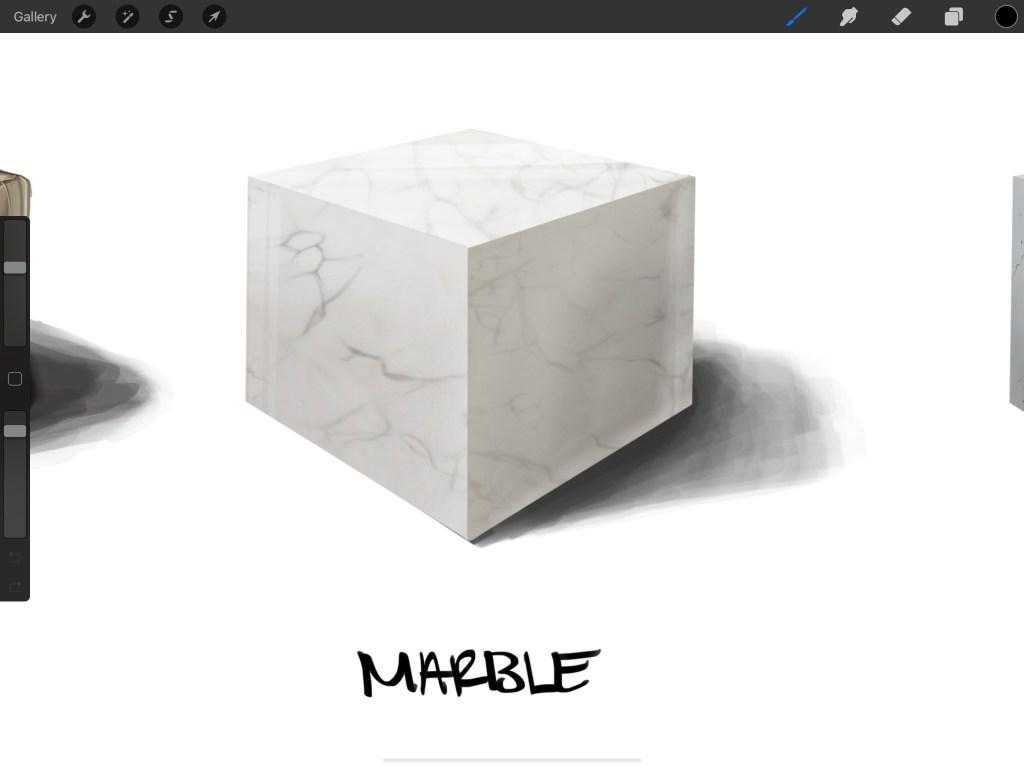 Procreate Marble effect