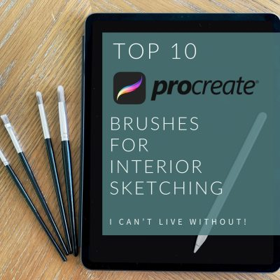 Top 10 Procreate Brushes for Interior Sketching I Can't Live Without