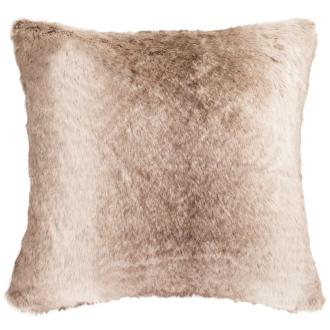 Faux fur pillow.