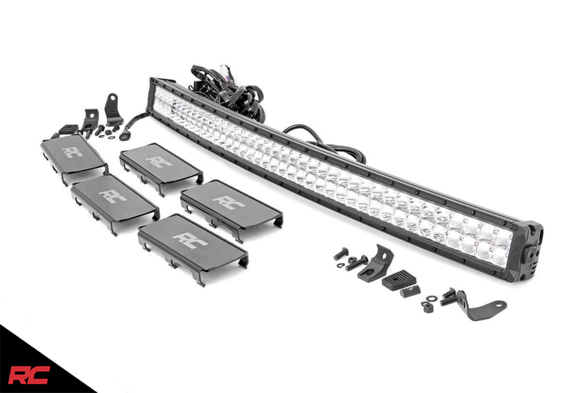 Rough Country 40 Led Light Bar Dual Row Cree Curved W