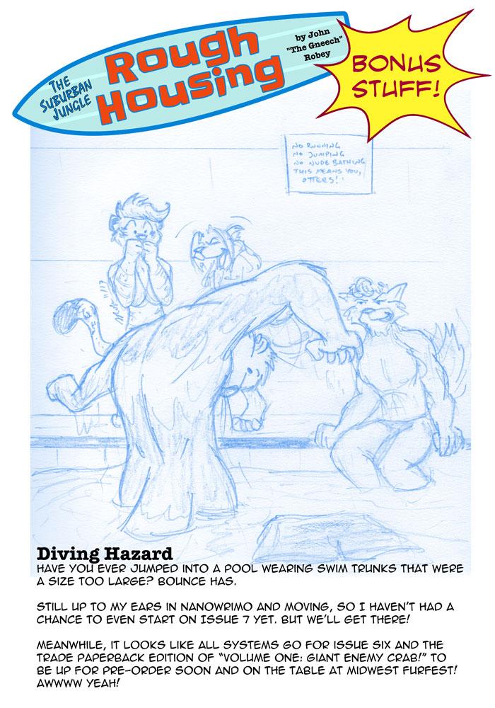 Bounce encounters a diving hazard.
