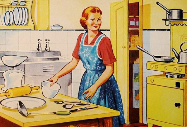 Retro Wife Family Woman Housewife Kitchen Cooking
