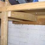 Bench stiffening blocks