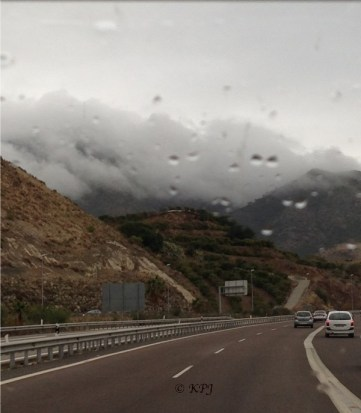 Cloud and rain on the toll road of the Costa del Sol !