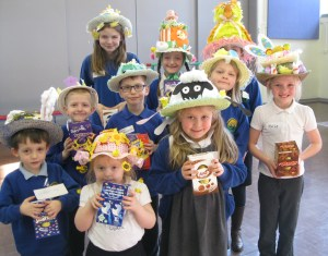 The winners of today's Easter Bonnet Parade.