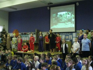 Key Stage 2 performing Aladdin.